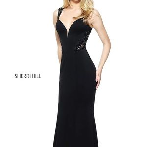 Black Sherri hill evening dress